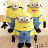 Wholsale Medium Size 35cm 3D Despicable Me Minion Plush Toy Stuffed Doll Plush Doll toys Jorge Dave Stewart 3D Eyes