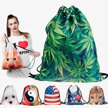 2015 new fashion escolar backpack 3D printing travel softback man women mochila feminina harajuku drawstring bag mens backpacks(China (Mainland))