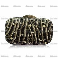 2015 Hot Sale Luxury Brand Valentine Handmade Hollow Out Diamond Bags For Women Messenger Bags Party Elegant Evening Clutch Bag