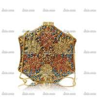 Six Sides Snowflake Fashion Stars Luxury Vintage Handmade Crystals Women Handbags Bags Ladies Party Sequined Wedding Dress Bag
