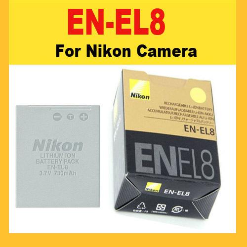 Nikon Digital Camera Battery Pack EN-EL8 ENEL8 Accessory COOLPIX S1 S2 S3 S4 S5 S6 S7 S7C S8 S9 S51 S50 S52 P1 P2 L1 L2 MH-62(China (Mainland))