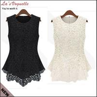 Women Blouses Lace Shirt Summer Cheap Clothes China Body Shirt Womens Tops Fashion 2014 White Lace Blouse
