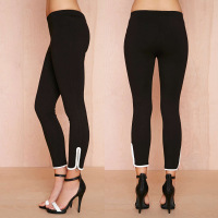 Hot Sale Special Offer Freeshipping Polyester Low Contrast Color Elastic Self-cultivation Nine Pants Waist Leggings