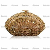 2015 Top Quality Luxury Brand Vintage Handmade Shape Diamond Designer Handbags High Quality Party Hasp Solid Wedding Dress Bag