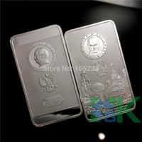 [ Pre-Sale] 50pcs Vladimir Vladimirovich Putin and the Kremlin russia President Putin Silver plated bullion bar free shipping