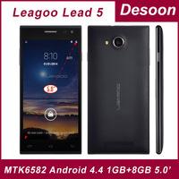 Original Leagoo Lead 5 MTK6582 Quad Core Android 4.4 1GB+8GB 8MP Camera 5.0inch OGS Screen 3G GPS 6.9mm Ultra Slim Mobile phone