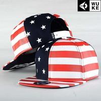 Stars and Stripes Hip-hop hat, baseball cap / tide flat brimmed hat men and women skateboard / Korean version of the hat
