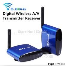 PAT-630 200M 5.8GHz Digital STB Sharing Device Video Equipments Wireless AV Transmitter Receiver for  PAT630 + US AS EU UK Plug(China (Mainland))