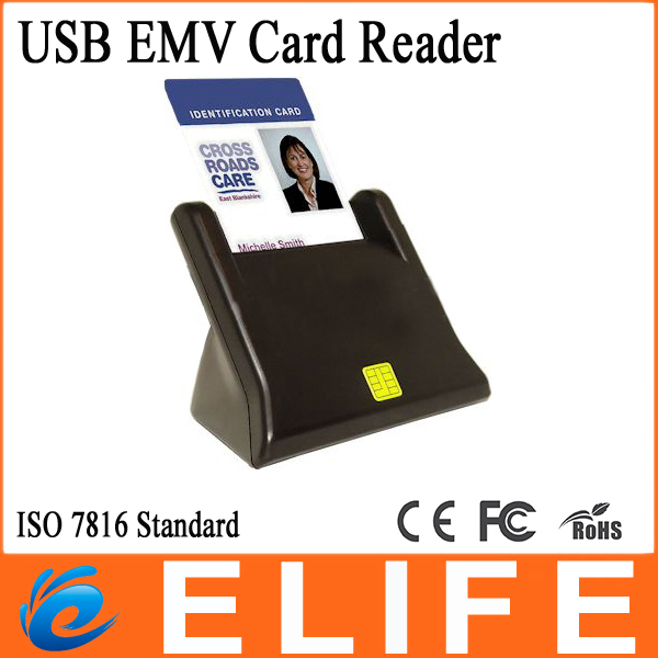 New Arrive USB Chip Credit Card Reader & Writer Support ISO 7816 & EMV2 2000 Level 1 Standard Bank Transfer free shipping(China (Mainland))