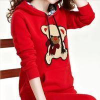 2014 Winnie plus size fleece velvet Hoodie sweater hoodies women M-XXXL 16 Models