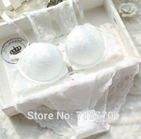 European style sexy lace open front clasp bra + briefs/beauty back gathered Bra sets/lingerie/bag-mail