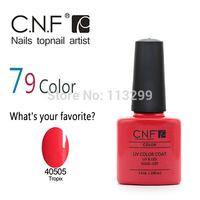 Choose 12PCS/Lot 79 Colors Available Free Shipping! New arrival Fashion colors CNF Soak off UV LED Nail Gel Polish