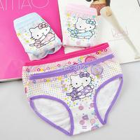 4pcs/lot Hello Kitty Girls underwear Children briefs panties roupas infantil baby underwear cotton Briefs calcinha for girl 2-8Y