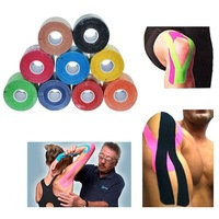 9 Colors 5cm*5M lastic Physio Therapeutic Tape Kinesiology Muscle Tape Sports Care Roll Cotton Elastic Adhesive Injury Support