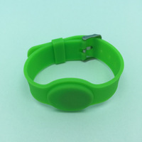 13.56MHZ 1k S50 adjustable silicone rfid wristband