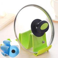 1 PCS Random Color Wave Design Pot Lid Stand Cooking Spoon Holder Support Shelf Kitchen Tool  Spoon Rests  Pot Clips