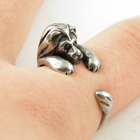 Hot Sale Lion Animal Wrap Ring - Silver For Woman Unique Rings