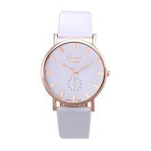NewestWomen Lady  Watch Leather Band Watch Analog Quartz Wrist Watch T-east