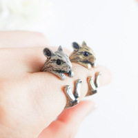 Hot Sale Hamster Animal Wrap Ring - Silver For Woman Unique Rings