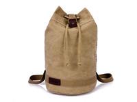 New men's backpacks Sports man Canvas shoulder bags Coffee Black Military shoulder school bags