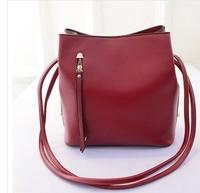 2015 New Solid Bucket Shoulder Bag Women Messenger PU Leather Classical Famous Brand designer hand bag Lady bolsos Rivet Handbag