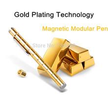 Magnetic Pen Polar Pen Metal DIY Modular Pen Touch Stylus Pen with Golden Color for iPhone / iPad / Phone / Tablets / PC etc
