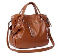 50% off  2015 women handbag women messenger bags Black Brown female big large capacity shoulder bags free shipping
