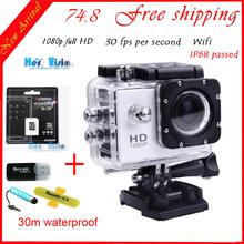 Original gopro-like SJ4000 WiFi Digital Camera Style 1080P fullHD Camera photos 30M waterproof cameras go pro digitales Camaras