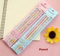 Creative love series cute printed wooden pencils, (4pcs/pack) Good quality School pencil(aa-645-342)