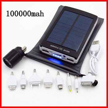 2015 bateria externa external battery New Solar Power Bank 100000mah solar charger powerbank for iPhone for HTC for PSP