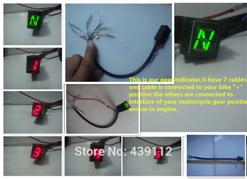 Digital Gear Indicator For Motorcycle Gear Indicator Motorcycle