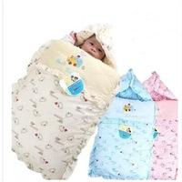 Autumn Winter Pure 100% Cotton Padded Baby Sleeping Bags Newborn Blanket Kits Hoodie Cute Sleepsacks Free Shipping #M00020