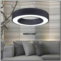 Black LED Ring Pendant Light Fixture Lustre Meerosee  LED Suspension Hanging Drop Lamp Fitting 100% Guarantee Fast  Shipping
