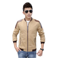Free shipping Men's Clothing Leather Patchwork Jacket Male Outerwear Jackets Plus Size 5XL Zipper Formal Fashion Design #NL13