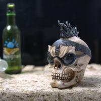 Creative Skull Resin Crafts. Skull. Halloween And Carnival. Skull Ornaments. Unique Halloween Ornaments. Bar Decoration Crafts