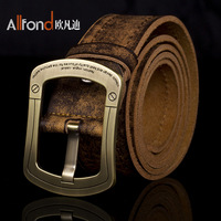Cowskin genuine leather belt for men with fashion buckle by factory