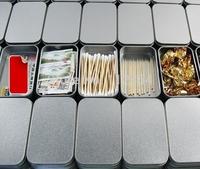Free Shipping+Wholesale plain silver tin box,rectangle tea candy business card usb storage box case,200pcs/lot