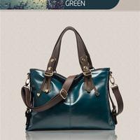 2014 Hot Sale Lady's Handbag Fashion Waxy And Genuine Leather Women Shoulder Bag Brand Fashion Bag