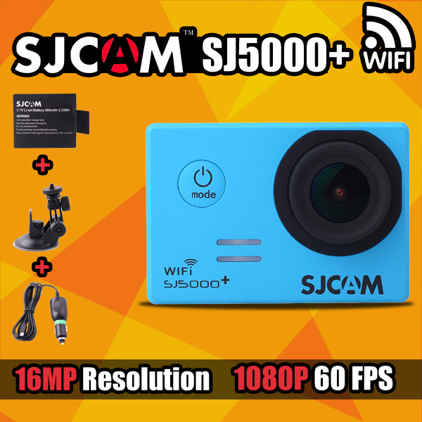 In Stock!Original SJCAM SJ5000 Plus Waterproof Sport Camera Ambarella A7LS75 1080P Full HD 60FPS WiFi Action Camcorder Car Dvrs(China (Mainland))