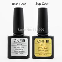 2Pcs/Lot Free Shipping High-Quality CNF UV & LED  nail Polish 1pcs Base Gel  +1pcs Top Coat .25oz/7.3ml