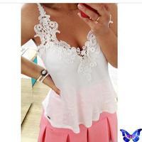 Blusa Regata Feminina Women Spaghetti Strap Camis Fashion White Beautiful Crochet Lace Camisoles Branco Blusa Renda Plus Size