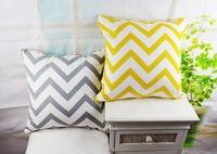 "Promotion 18""*18"" Home Decorative Ikea Chevron Zig Zag Cotton Throw Cushion Cover Pillow Case for Sofa"