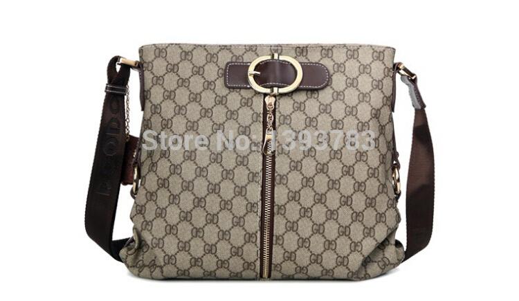 2014woman handbags designers brand letters messenger bag zipper casual cheap price high quality PVC leather messenger bag(China (Mainland))