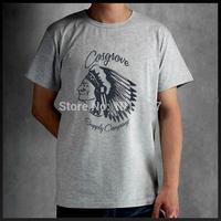 2015 Indian Head Print T Shirts Men Fashion t-shirt  Casual Hand-painted word tshirt camisetas