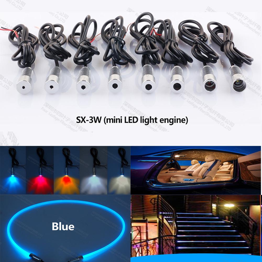 mini 3W 12v car led fiber optic projector light source engine for car interior lighting steps decoration(China (Mainland))