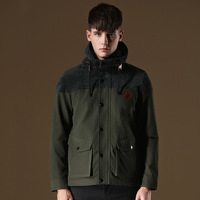 High Quality 2014 Brand Man Jackets And Coats Outdoor Windproof Sport Cotton Men  Jacket Hooded Outwear Black,Army Green,Yellow