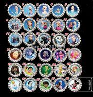 Free shipping,100pcs frozen Anna Elsa Round Diamante Clear Rhinestone Crystal Cluster FLATBACK Craft EmbellishmentsDIY,YQ220
