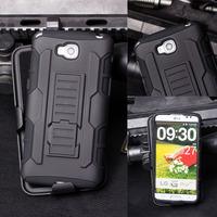 For LG Optimus G Pro Lite D680 Case, Armor Impact Hybrid Hard Case for LG Optimus G Pro Lite D684 D685 D686 Cover + Flim +Stylus