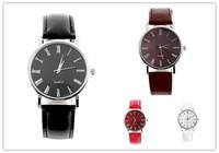 Hot Sale New Brand Wristwatch Women Elegant Simple Analog Quartz Watch Fashion Trendy Casual Watch PU Leather Women Men Watch
