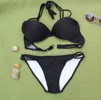 European and American big sexy black lace upscale casual dress sexy beach bikini swimsuit